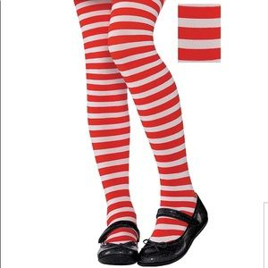 Other - Red white striped child tights costume small med